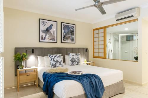 A bed or beds in a room at Shantara Resort Port Douglas - Adults Only Retreat