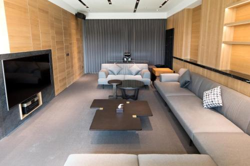 A seating area at He-Jia Hotel
