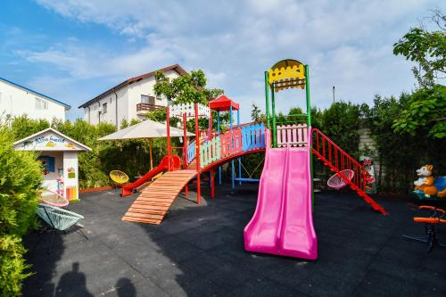 Children's play area at Pensiunea Alfa