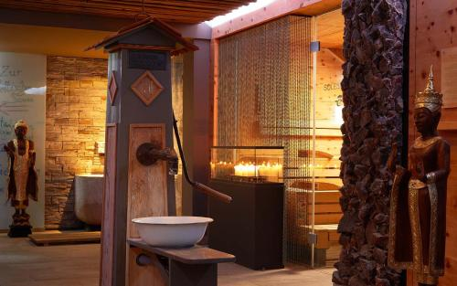 Ein Badezimmer in der Unterkunft Ayurveda Resort MANDIRA