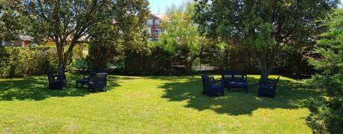 A garden outside Hotel Montemar