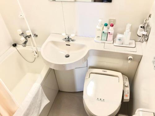 A bathroom at Asahi City Inn Hotel