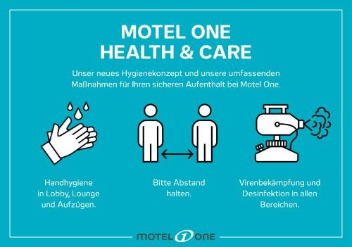 The floor plan of Motel One Magdeburg