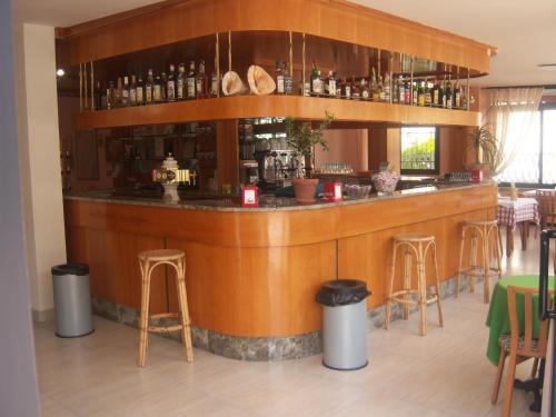 The lounge or bar area at Albergo Elena