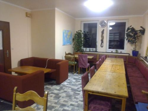 The lobby or reception area at Hostel Aachen