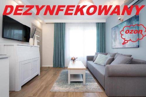 Coin salon dans l'établissement Exclusive Apartments Kraków Kazimierz