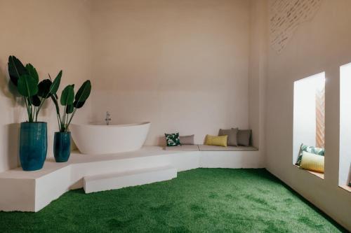 A bathroom at Hotel Cetina Sevilla