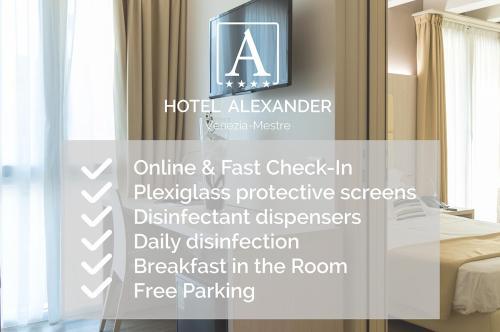 Сертификат, награда, вывеска или другой документ, выставленный в Hotel Alexander