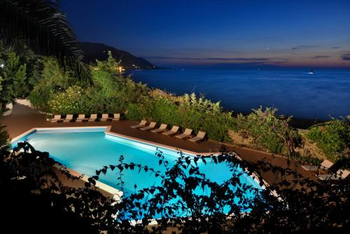 A view of the pool at Palazzo Belmonte or nearby