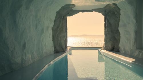 The swimming pool at or near Cavo Tagoo Mykonos