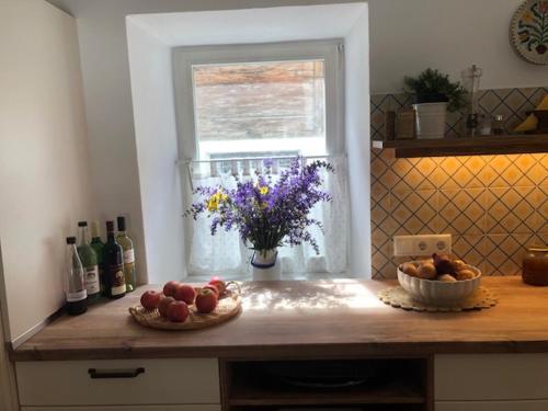 Küche/Küchenzeile in der Unterkunft Blusnerhof
