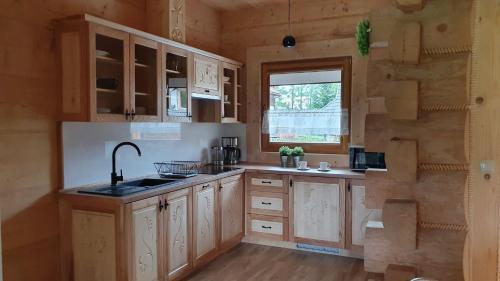 A kitchen or kitchenette at Apartament z widokiem w Murzasichlu