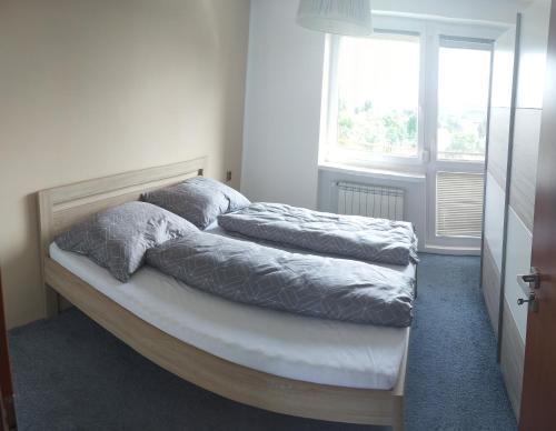 Postel nebo postele na pokoji v ubytování Apartmán u Lesíku v rodinném domě
