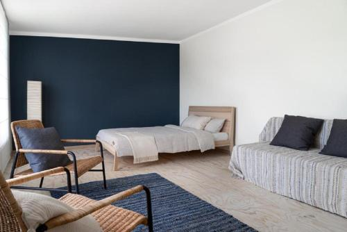 A bed or beds in a room at Papes-house