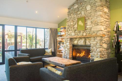 A seating area at YHA Franz Josef