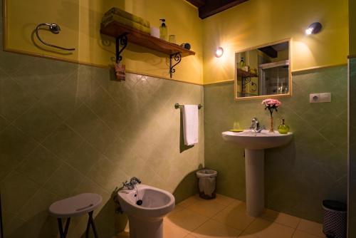 A bathroom at Posada Camino del Norte