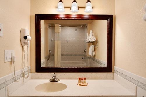 A bathroom at Days Inn by Wyndham Nanuet / Spring Valley
