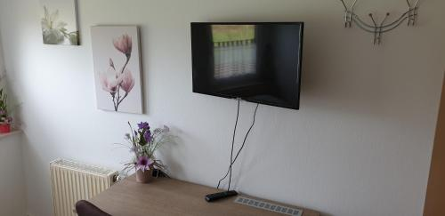 A television and/or entertainment center at Gästehaus Strudthoff