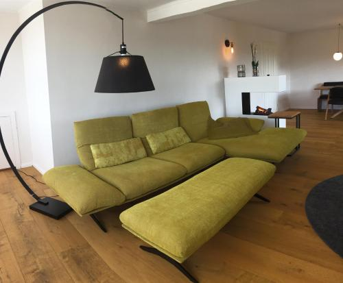 A seating area at gemütliches Apartment bei Jena