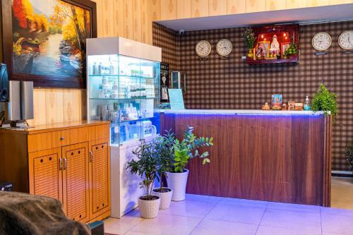 The lobby or reception area at Aqua Long Son Hotel