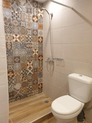 A bathroom at Apartments Xenophon