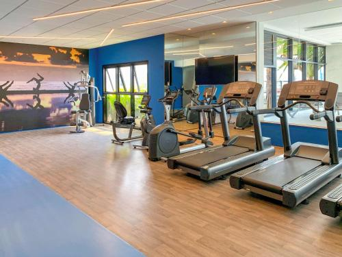 The fitness centre and/or fitness facilities at Mercure Itajai Navegantes