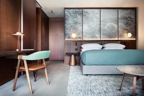 Ein Bett oder Betten in einem Zimmer der Unterkunft Il Sereno Lago di Como