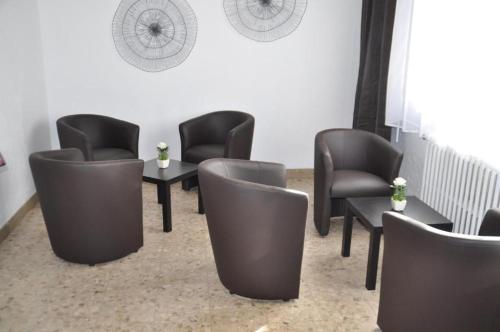 A seating area at Hôtel Saint George