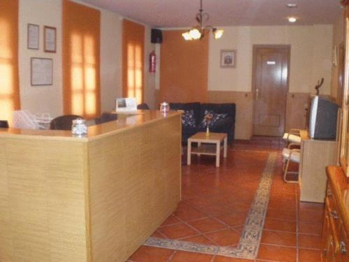 The lobby or reception area at Hostal Emilio Barajas