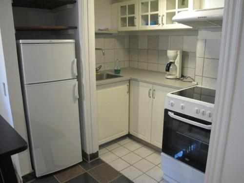 A kitchen or kitchenette at Guesthouse Sharon Aarhus