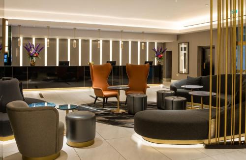 The lobby or reception area at Strand Palace Hotel