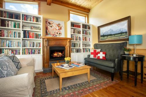The library in the lodge
