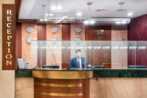 Лобби или стойка регистрации в Отель Киев