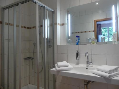 A bathroom at Landgasthaus Hotel Eggert