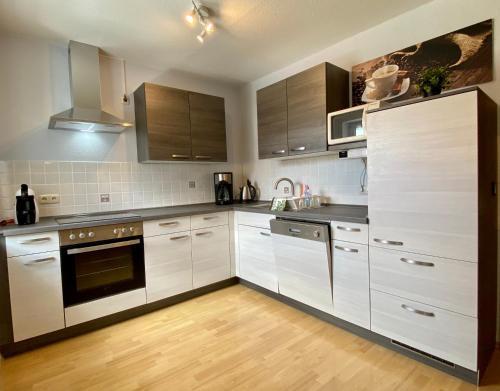Küche/Küchenzeile in der Unterkunft FeWo Riedel