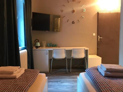 TV a/nebo společenská místnost v ubytování Ubytování na Lesní