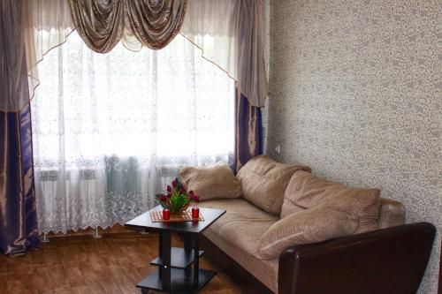 Гостиная зона в Apartment on Prospekt Truda