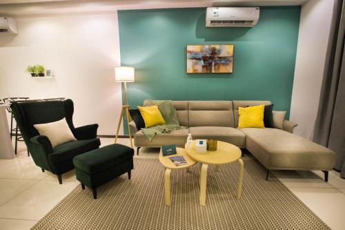 منطقة جلوس في Mabaat Homes - Edsas 5 Compound, Luxury Villa