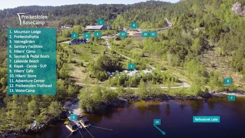 A bird's-eye view of Preikestolen BaseCamp