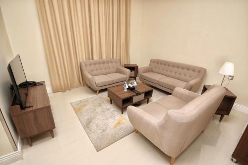 Uma área de estar em Hyatt ِALfursan Hotel