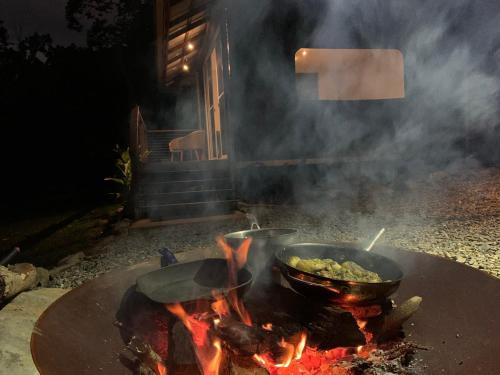 BBQ facilities available to guests at the lodge