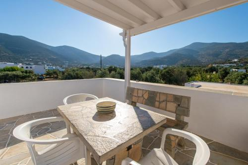 A balcony or terrace at Aristeides - Moscha Apartments