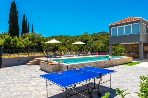 Table tennis facilities at Villa Jelena or nearby