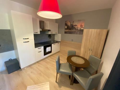 A kitchen or kitchenette at Villas Arbia - Magdalena