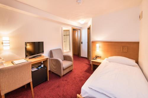 TV/Unterhaltungsangebot in der Unterkunft Göbels Hotel zum Löwen