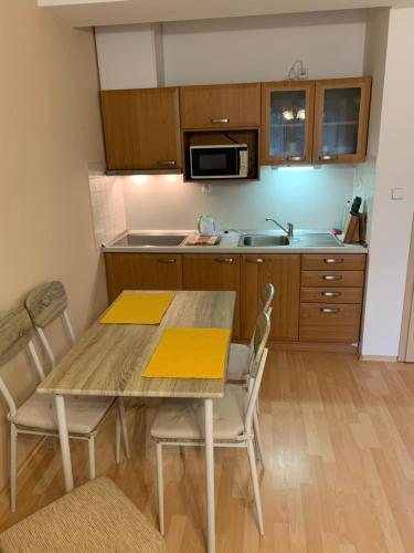 Kuchyň nebo kuchyňský kout v ubytování Apartmán Sluníčko