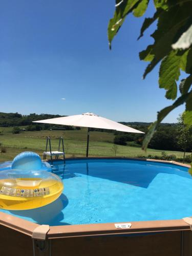 The swimming pool at or near Les Bayles