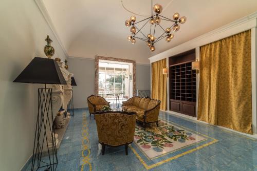 Area soggiorno di Villa Ortensia D'Avalos