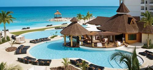 A view of the pool at Secrets Wild Orchid or nearby