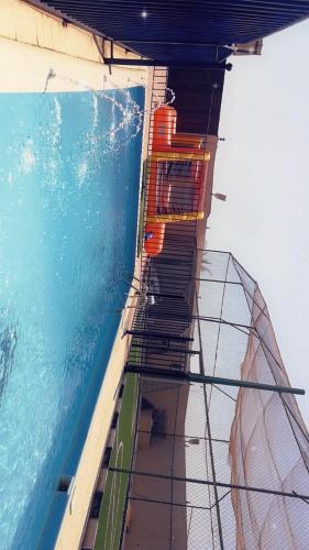 Uma varanda ou terraço em استراحة الرونق Al Rownaq chalet